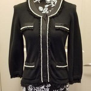 White House/Black Market knit button front blazer
